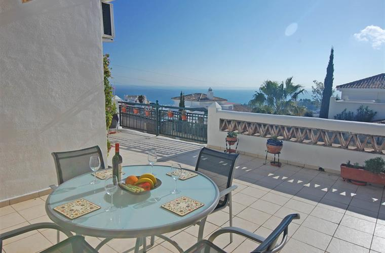 Mediterranean view from your sun lit terrace