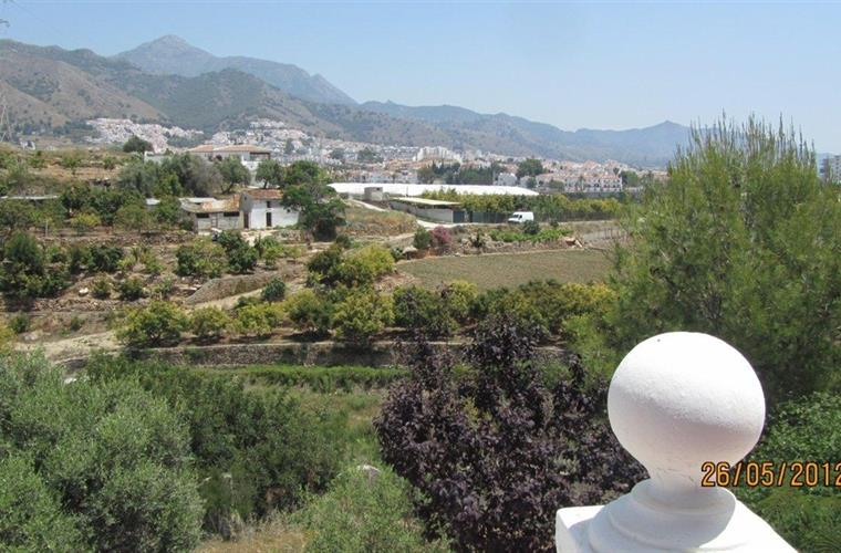 Views to the mountains and Nerja.