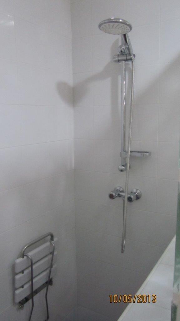 View of adapted shower.