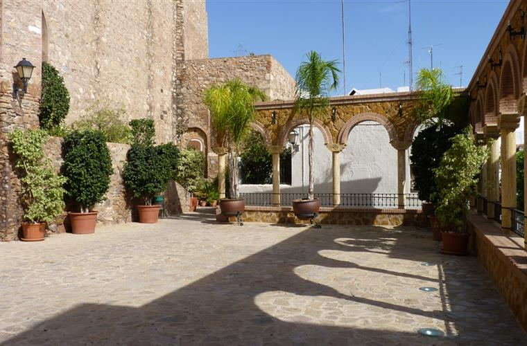 The Moorish Courtyard behind the Church