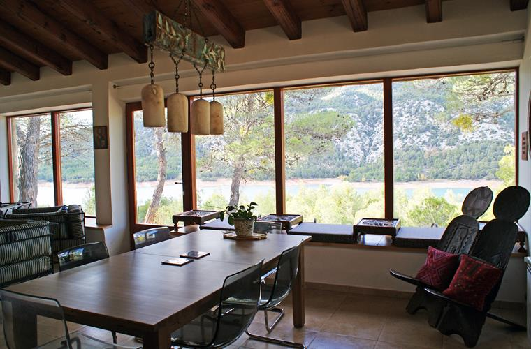 Dining area with panorama windows
