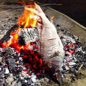 Grilled fish, traditionally done at the beachrestaurants