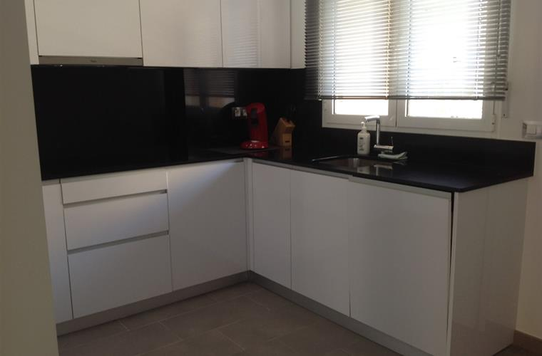 Kitchen with Dishwasser, induction hob, oven, large fridge/freezer