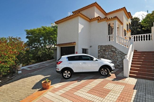 Private parking at the villa