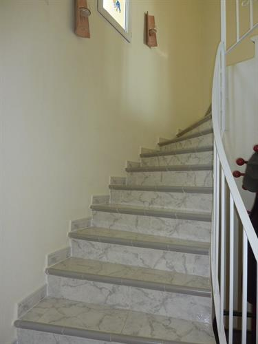 Stairs to the third bedroom and sun terrace