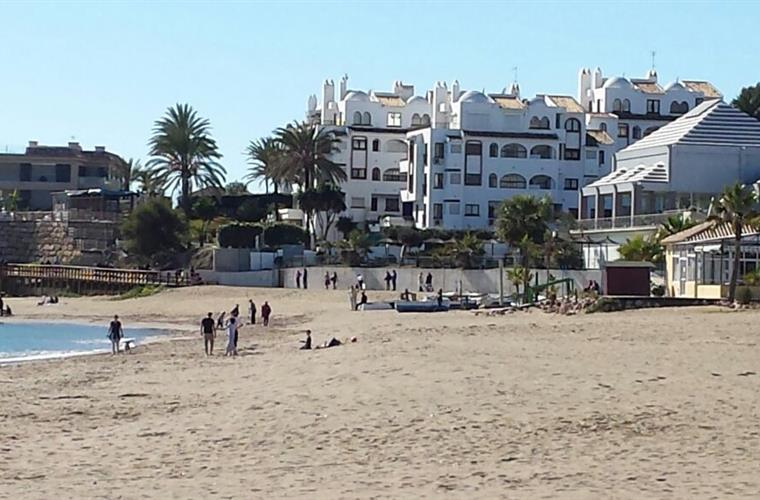 The beach of La Cala. (The one that you are closest to).