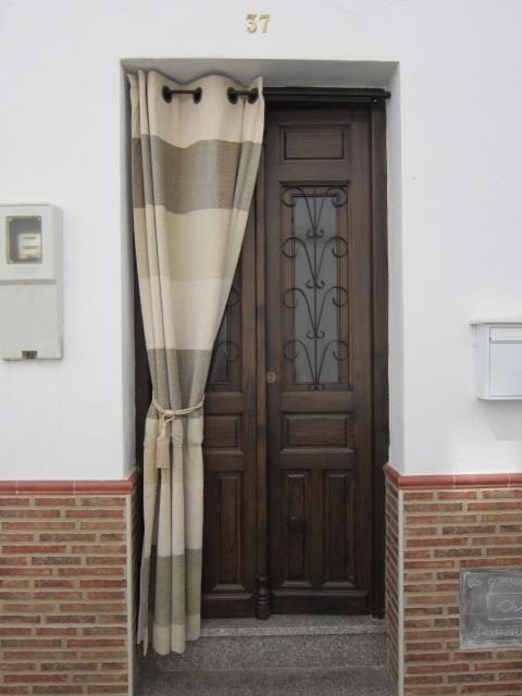 The front door of the holiday home