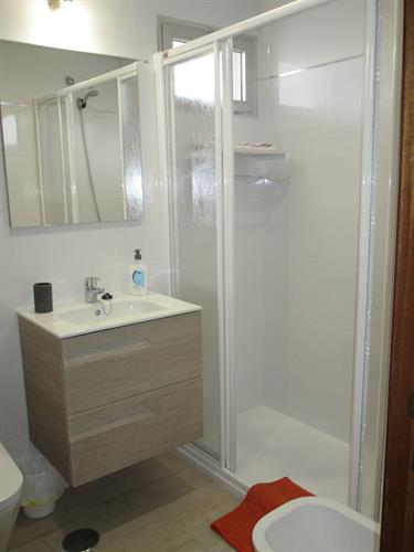 Fully renovated bathroom with large shower tray