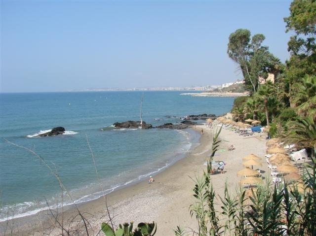 beach next to the residence