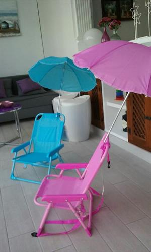 Sun chairs for the children