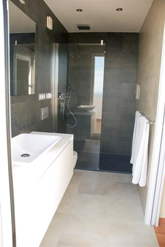 New rooftop bathroom with direct access to the roof top terrace.