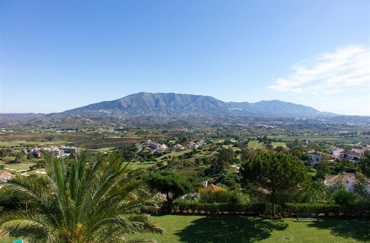 Mijas valley and Mijas Mountain seen from terrace