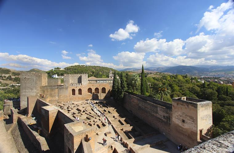 Alhambra - the Moorish fortress in Granada. Less than 1 1/2 Hour