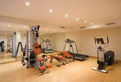 Fully equipped gym, with aircon and full size table tennis table