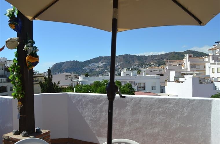 view from dining table on terrace
