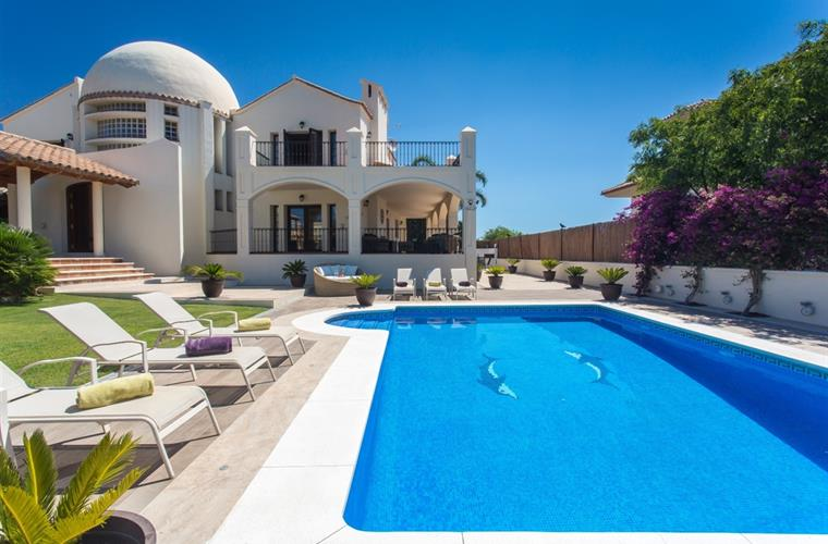 Enjoy the private pool in this luxury Marbella villa