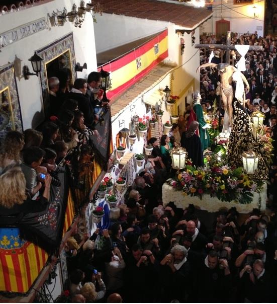Easter procession seen from balcony