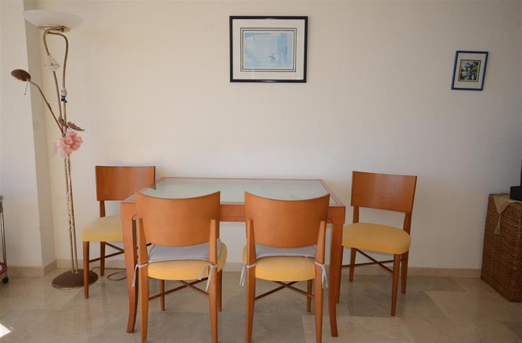 dining table in the living area