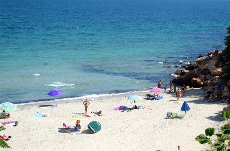The beach seen from the Pepe's restaurant 100mts from Villa Gaudi
