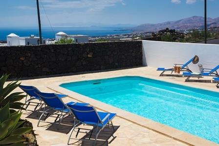 Private pool with seaviews