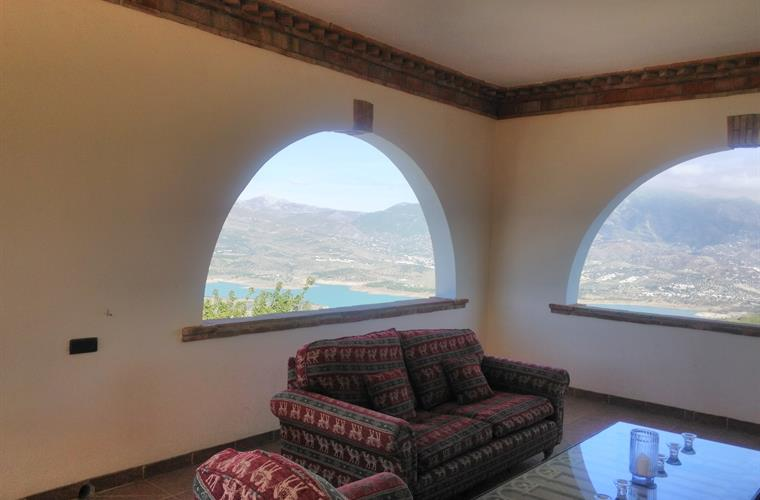 Fabulous views and a place to relax under the covered terrace