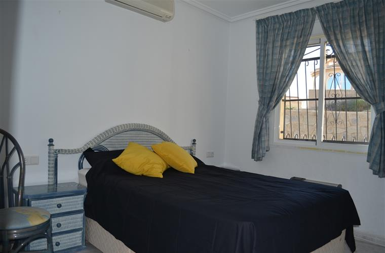 seperate bedroom with double bed