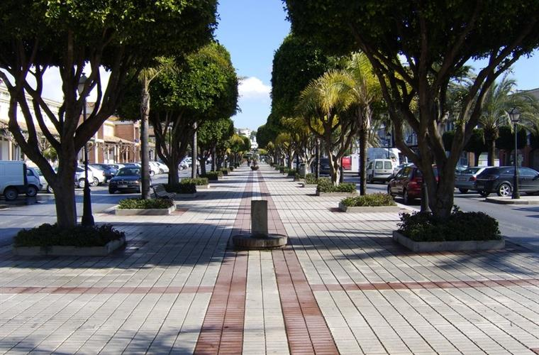 Main walkway in La Cala de Mijas