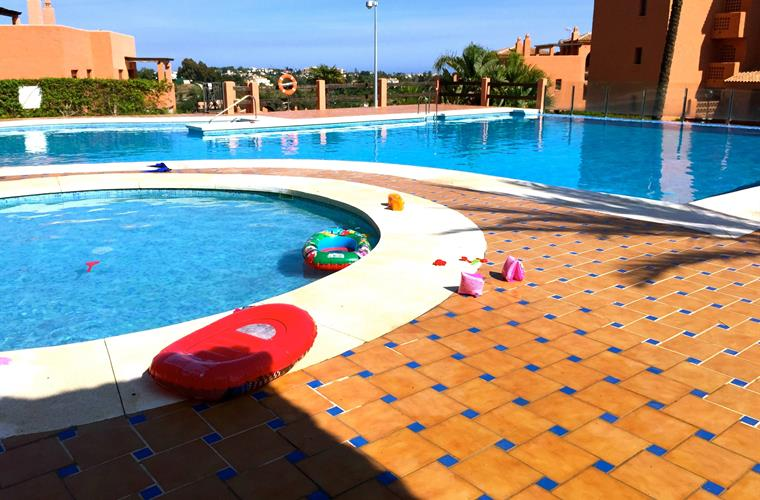 One of the pool areas with swimmingpool for the children