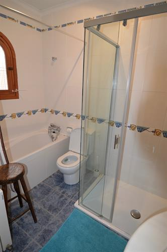 Ensuite bathroom top floor - has shower and bath!