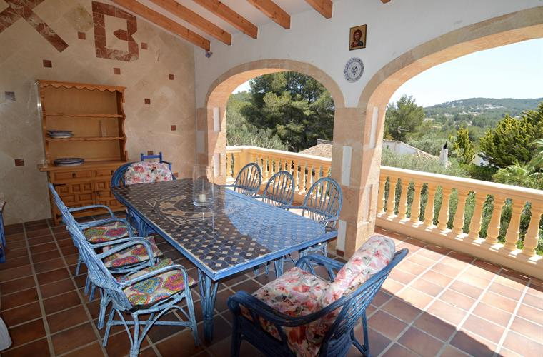 Fantastic terrace with an amazing view and huge table sitting 8+