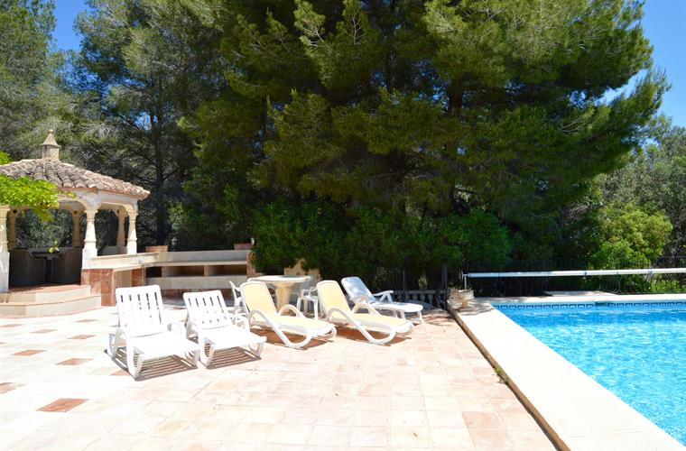 Swimming pool and summer kitchen area - has 2 barbecues and paella