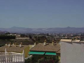View to the hills from the solarium