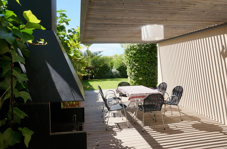 Outdoors area with barbecue