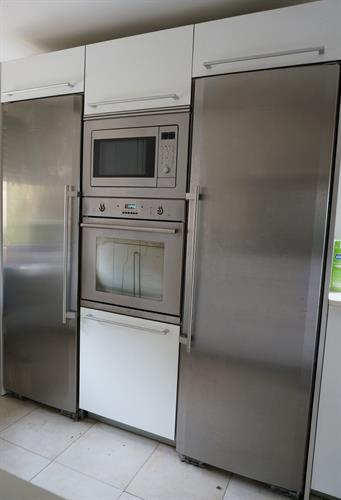Kitchen with separate fridge and freezer