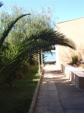 Walkway from the house to the beach