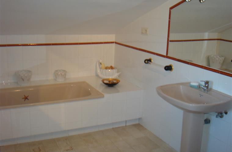 Master Bedroom's en-suite sink and bathtub