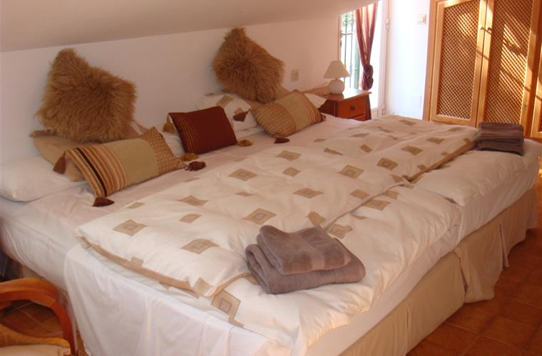 The Master bedroom's Double-Double bed!