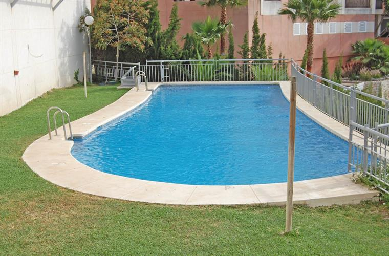 Large pool in gardens