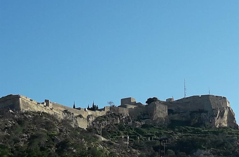 "View castle ""Santa Bárbara"" from the backpart"