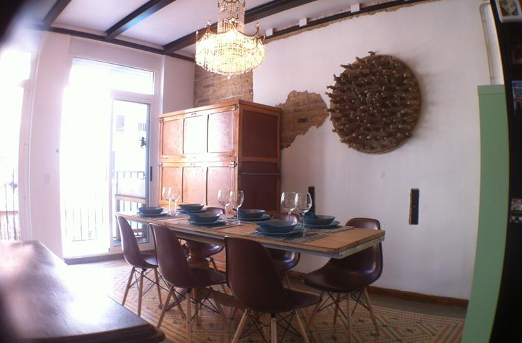dining area with entrance to the terasse
