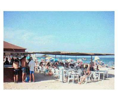 Mar Menor Beach Bar in Summer