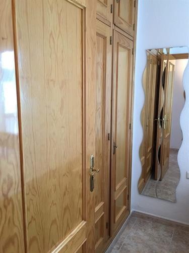 Each bedroom has plenty of storage with  three built-in-wardrobes