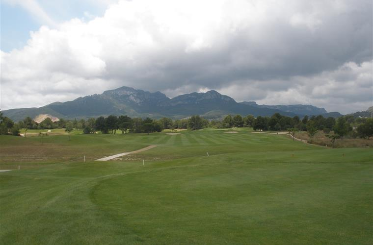 Golf Course View of Mountains in distance