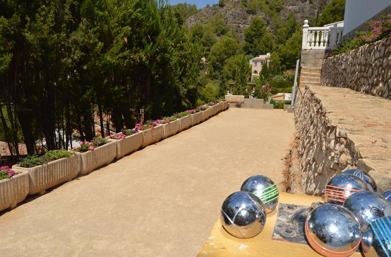 12x3m private petanque court on the lower part of the property