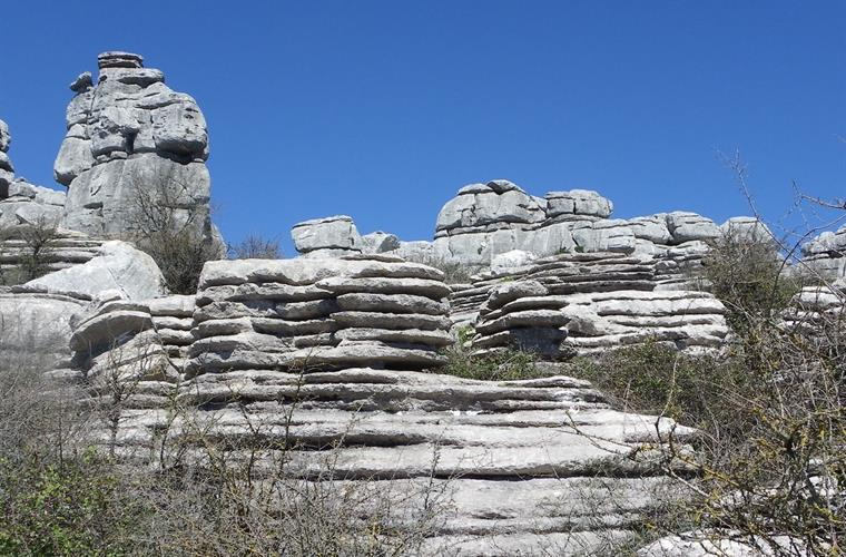 Visit El Torcal and see the amazing rock formations.