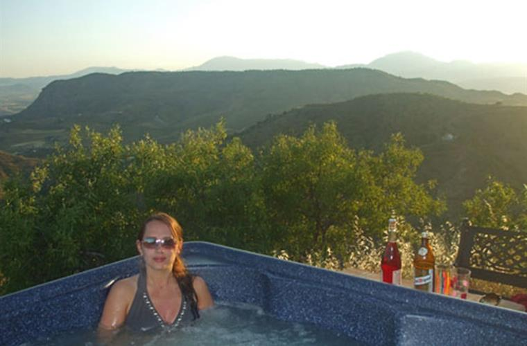 Enjoy the sunsets while waiting for the stars in the hot tub