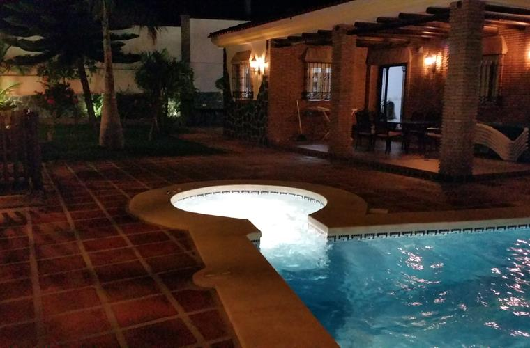 Pool and Porch at Night
