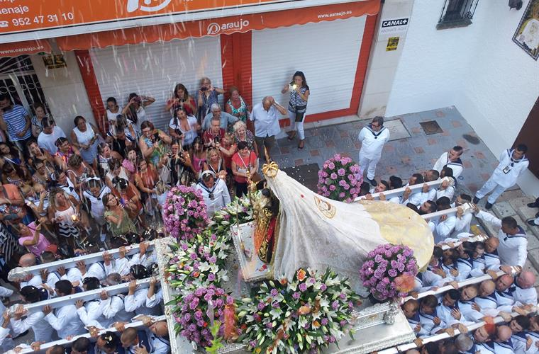 Photo made from the terrace in the day of the Carmen´s procession