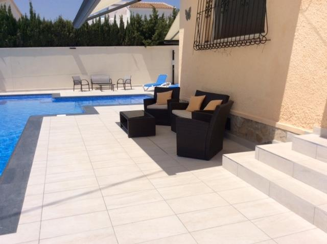 Seating around the pool