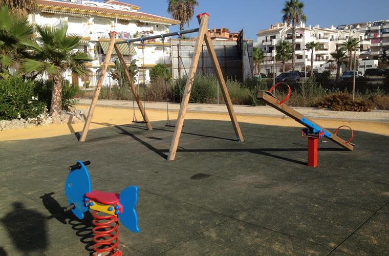 Children's playground on beach